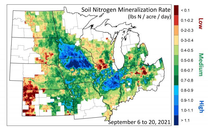 Map of Relative Soil Moisture 2021-09-20