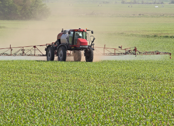 sprayer in field