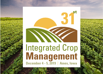 ICM conference logo with field in background
