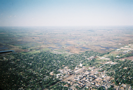 Aerial view of Boone County June 14, 2008