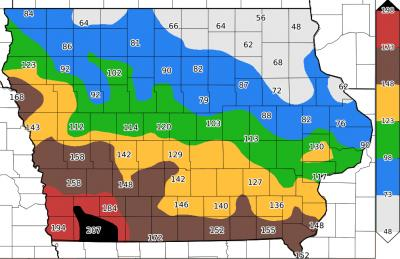 2016 alfalfa weevil degree day map