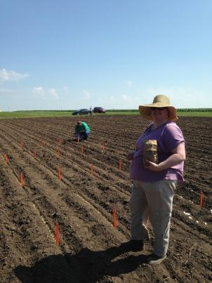 Rachelle and Elizabeth are both doing their PhDs in my lab; and came out to help plant the trial
