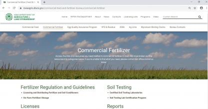 The Iowa Department of Ag. and Land Stewardship lists certified soil testing laboratories on the commercial fertilizer page under soil testing.