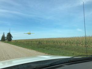 aerial seeding of cover crops into standing corn