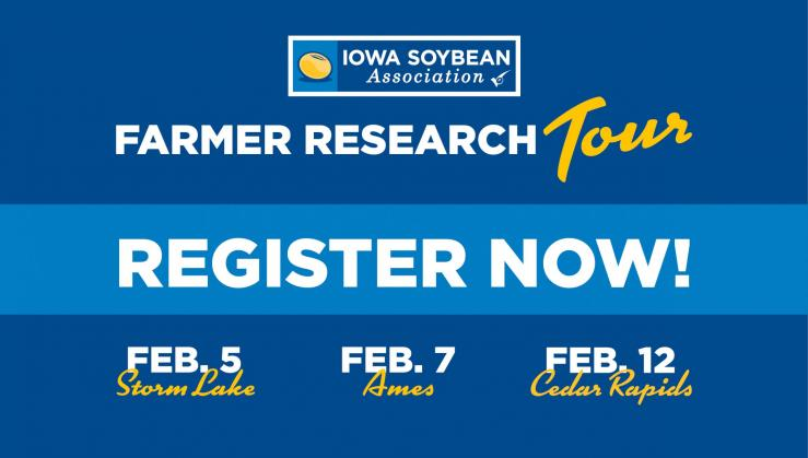 iowa soybean association tour logo