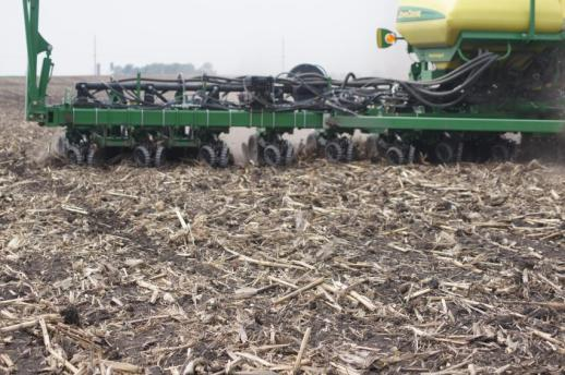 Inspect the furrow periodically during planting