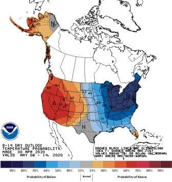 May temperature outlook