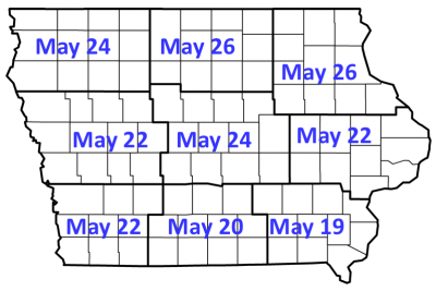 degree day map of black cutworm