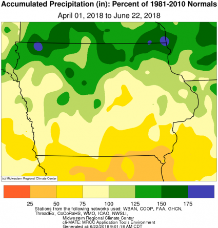 normal rainfall map april 1 to june 22