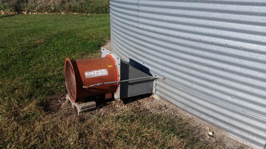 Aeration fan on a grain bin.