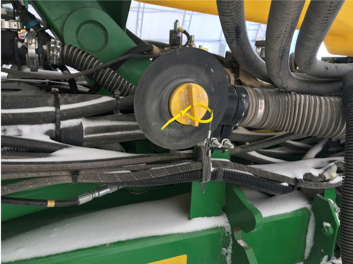 Be sure to remove vacuum frame plugs before heading to the field.
