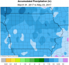 precipitation map April to May